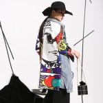 2017 new Spring spring Graffiti Splicing Cowboy Women Long-Sleeved Cardigan Long Coat Female Fashion Clothes W0145