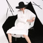 2017 spring summer women new solid color deep V collar long sleeve white dress white cotton shirt fashion tide 3540