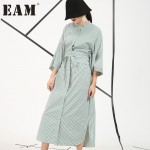 European American style 2017 spring new Fashion loose shirt sleeve striped dress wholesale long section AS11565