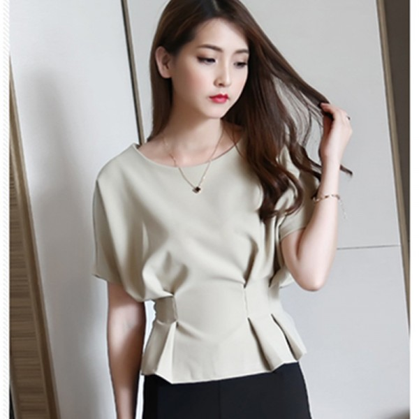 2016 Summer Plus Size Women Chiffon Tunic Shirt O Neck Batwing Loose Ladies Blouse European Female Top Femininas Blouses Shirt