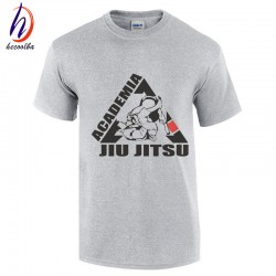 2017 Jiu Jitsu Cotton T shirt Men Summer Short Sleeve T-shirt O Neck  Cotton Tops Tee Fitness MMA Clothing,GT037