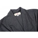 2017 Plus Size Spring Autumn Thin Waterfall Asymmetric Long Sleeve Cotton Open Jacket  Woman Collar Long Sleeve Outerwear Coats