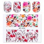 BORN PRETTY Pretty Flower Nail Art Water Decals BP-W04 Transfer Nail Stickers Nail Art Decorations #20595