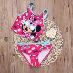 Baby Girls Swimwear Minny Mouse Bathing Kid Gilr Cartoon Swimsuit Tankinis Child Bikini