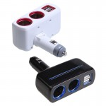 Cigarette Lighter Dual USB Car Charger Splitter cigarette lighter 5V2.1A 1A car charger cigarette lighter socket splitter