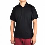 Men's 100% New Merino Wool Short Sleeve blak POLO Shirt  Out Door Lightweight Tee Lapel Turn-down V Collar Button