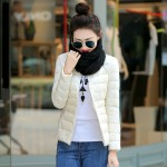Solid Color Winter Women Down Jacket Pocketable Fashion  Duck Feather Ultra Lightweight Jacket sha029