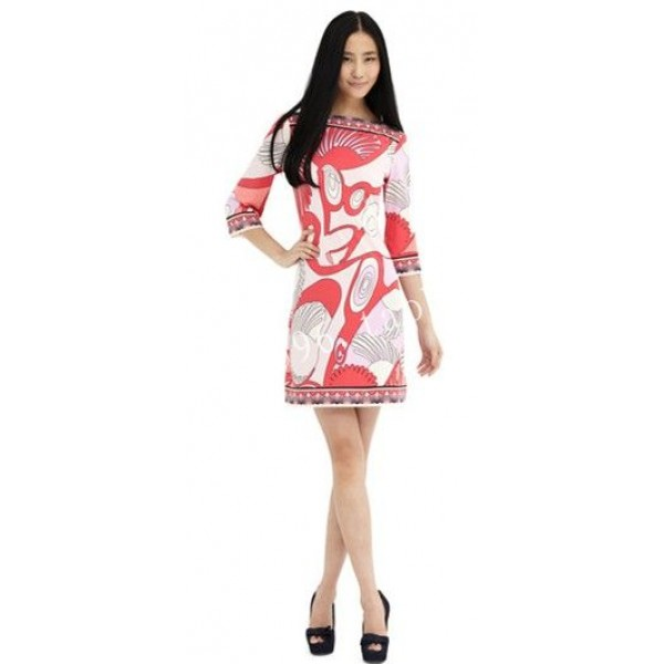 Special Offer Promotion Freeshipping Vestido Sexy Dress Fashion Sweet Print Knit Dress Slim Gentlewomen Elastic One-piece