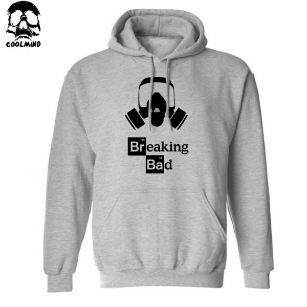 Top quality MEN heisenberg print cotton blend hoodies Breaking bad print men sweatshirt with hat 2016 H01