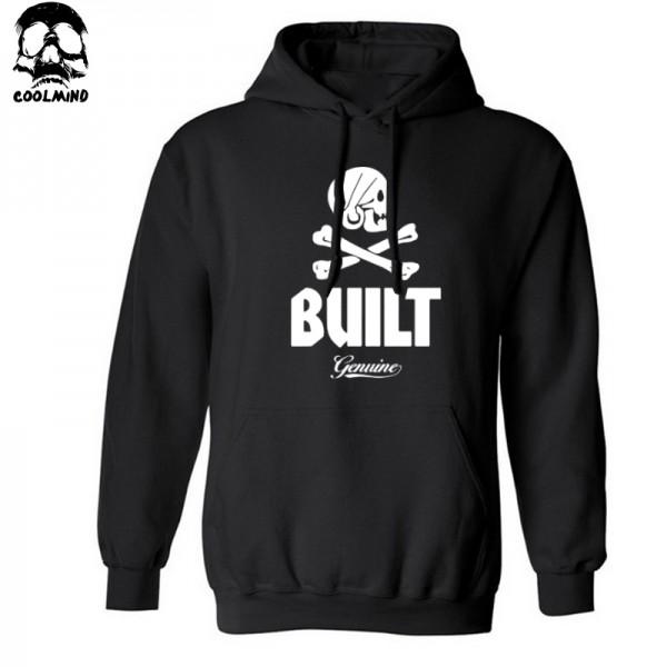 big size cotton Blend fleece casual loose men pullover hooded skull sweatshirt for man 2016 men Hoodies with hat H01