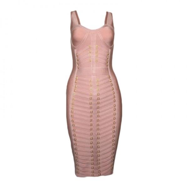 high quality sleevless  pink bandage dress party dresses 2017 HL bodycon bandage dress vestidos