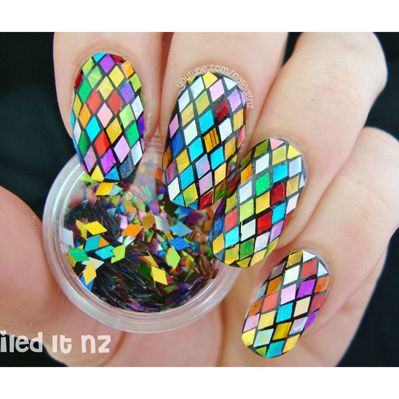 1 Box 2mm Rhombus Paillette Nail Sequins Sparkling Colorful Glitter ...