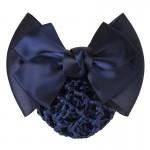 1 PC Sweet Girl Satin Bow Barrette Lady Hair Clip Cover Bowknot Bun Snood Women Hair Accessories QLM