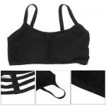1 PC Women Sexy Padded Bra Crop Tops Bustier Vest Cut Out Shirt Black White Summer Beach Tank Tops