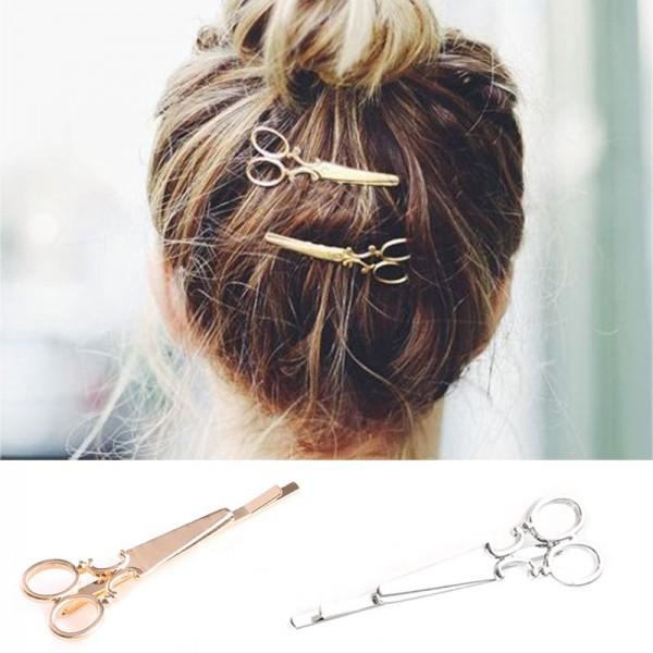 1 pair Women Lady Girls Scissors Shape Hair Clip Nice Hair Pin Hair Barrettes Decorations Hair Accessories
