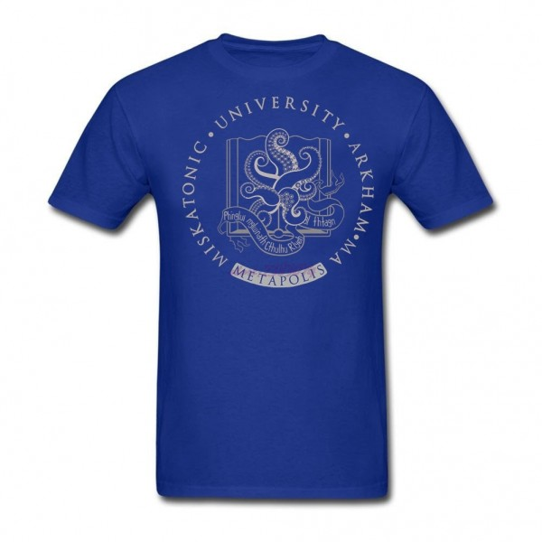 100% Cotton Clothing Capable Light Cthulhu in Miskatonic University at Metapolis Adult Shirts Classical Round Neck  T Shirts