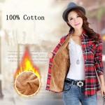 100% Cotton Women Thick Winter Plaid Shirt 2018  Long Sleeve Ladies Shirts Casual Top Korean Blouses Plus Size Blusas Clothing