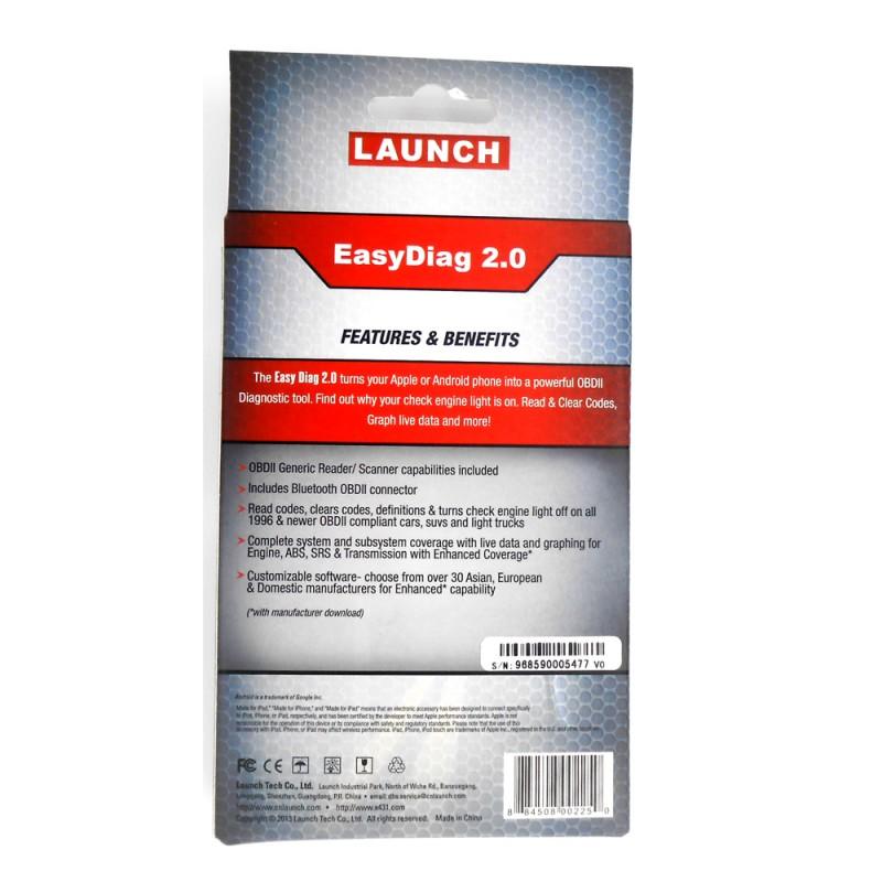 100% Original Launch X431 EasyDiag 2 0 Code Reader Scanner