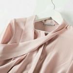 100% REAL SILK blouse Women long sleeve CHIFFON SILK Blusas femininas OFFICE Lady loose SHIRT 2015 NEW Spring ELEGANT cheer top