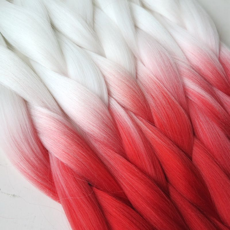 100gpc 24 white neon chili red ombre kanekalon braiding hair 10pcs 100gpc 24 white neon chili red ombre kanekalon braiding hair synthetic two tone kanekalon jumbo braid hair extensions pmusecretfo Image collections