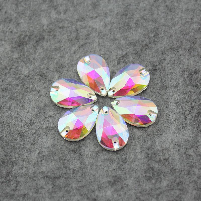 12-28mm Sew On Claw Rhinestones Glass Crystal Sewing Stones Clear AB For  Wedding Dress Decoration a7080b0c82e0