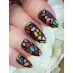 12 Tips/Sheet Irregular Triangle Pattern Nail Vinyls Nail Art Manicure Stencil Stickers JV206 # 23528