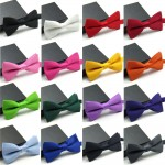 16 Colors Fashion Bow Ties For Men Bowtie Tuxedo Classic Solid Color Wedding Party  Red Black White Green Butterfly Cravat Brand