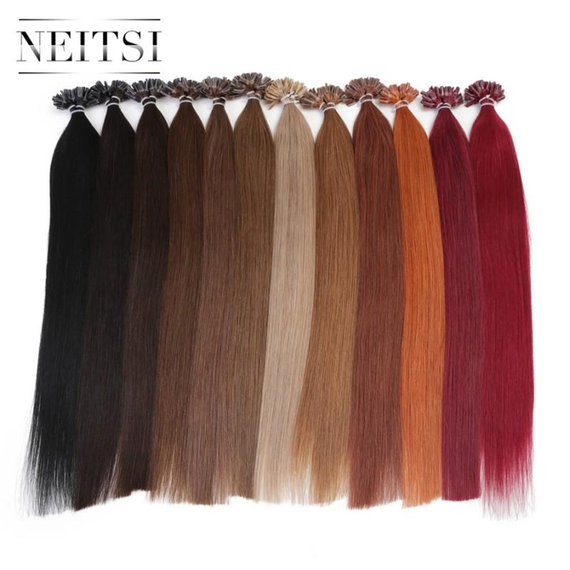 16 20 24 1gs 50g 100g Brazilian Remy Hair Keratin U Nail Tip