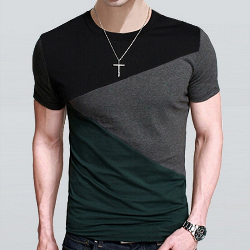 17 Designs Mens T Shirt Slim Fit Crew Neck T-shirt Men