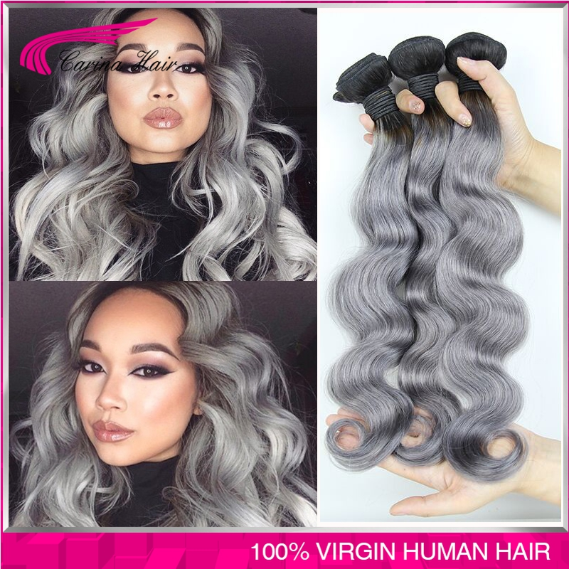 1bgray Hair Extensions Body Wave Peruvian Virgin Hair 3pclot