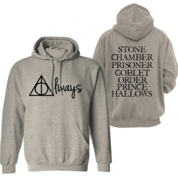 2015 Mens Hoodies Deathly Hallows Logo Custom Casual Men's Crewneck Sweatshirts Graphic S-3XLPlus Sizes hoodies