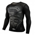 2015 New Fitness MMA Compression Shirt Men Anime Bodybuilding Long Sleeve 3D T Shirt Crossfit Tops Shirts