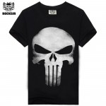 2015 heavy metal skeleton men's t-shirt black cotton hip hop t-shirt casual music t-shirt for men