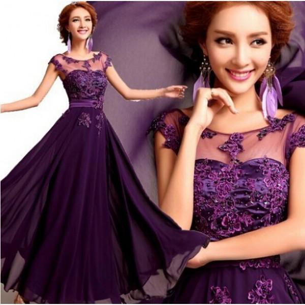 2015 new brand women summer lace dress vestidos de festa longo / Ankle-Length A-Line plus size women clothing S-XXXL