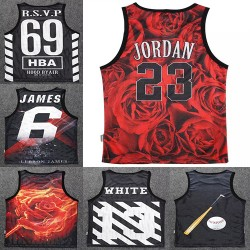 2015 summer new 3d tank top men/women tops tees print Jordan flowers hba Hip Hop bodybuilding regata masculina brand vest