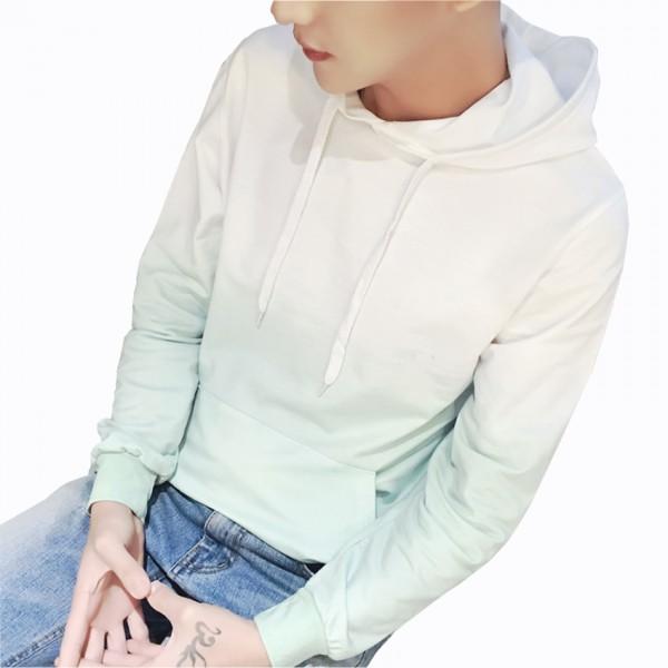 2016 Autumn New Design Men's Hoodie Fashion Gradient Color Casual Cotton Sweatshirt Men Hip Hop Hoodies Men Plus Size 5XL