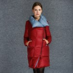 2016 Autumn Winter Women Down Parkas Coats Turn Down Collar 90% Duck Down Outerwear  3XL 4XL 5XL 3801
