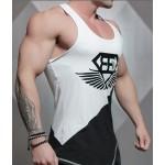 2016 Brand vest bodybuilding clothing and fitness men undershirt tank tops tops golds men undershirt XXL