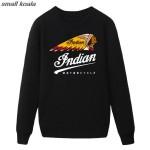 2016 Fashion  Style Vintage long Sleeve Funny  Motion Indian Motorcycle  Cotton Men's hoodies sweatshirt man