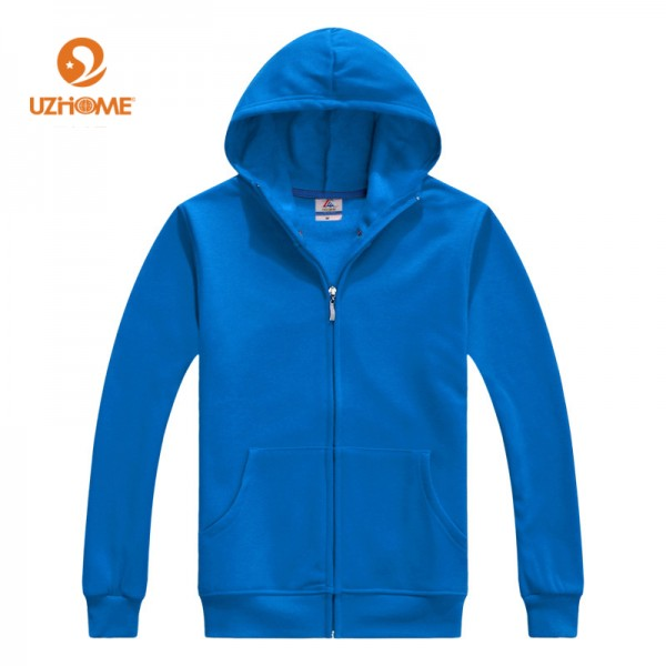 2016 Fashion Winter Autumn Thermal Mens Sizes Up to XXXL Solid Full Zipper Hooded Fleece Hoodies Men Casual Sweatshirts