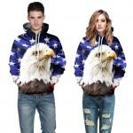 2016 Men Casual Sweatshirt Hoodie 3D Print Animal Hoodies Pullovers Cotton Tiger Lion Hoodie Sweatshirts Fashion Couple Clothing