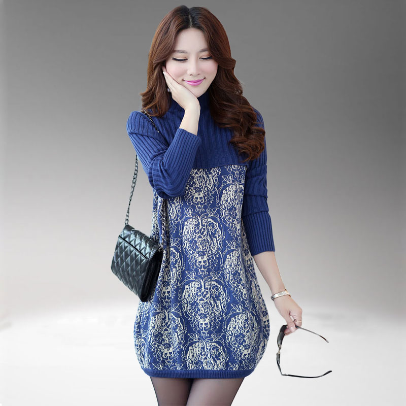2016 Middle Aged Autumn And Winter Loose Plus Size Mother Dress