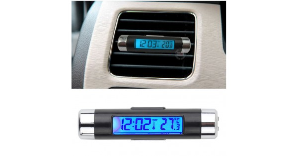 2016 New 2 In1 Car Auto Lcd Clip On Digital Backlight Automotive