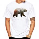 2016 New Arrivals Fashion Bear Design Men's T Shirt Boy Cool Style Tops Casual T-shirt