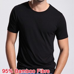 2016 New Bamboo Fiber Anti-sweat smell T-shirt Summer Breathable High quality Men Solid O-Neck Loose Short Sleeve Casual Clothes