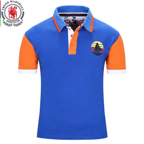 2016 New Brand Men Polo Shirt Mens Solid Polo homme Casual Short Sleeve  Tops for Man Patchwork 100% Cotton Plus Size 018