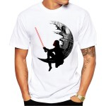 2016 New Fashion Darthworks Design Men T-shirt Short Sleeve Hipster Star Wars Tops The Darth King Printed t shirts Cool tee