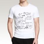 2016 New Fashion Men T Shirt Novetly Mathematical Formula Printed T-Shirt Men's Short Sleeve O-Neck T-Shirts Summer Streetwear