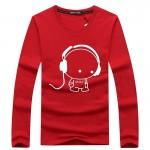 2016 New Long Sleeve Men T Shirts Pure Cotton Fashion Brand Designer  Casual Long Sleeve Print T-shirt High-quality Men T-shirt