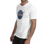 2016 New Style NASA Fashion Cool Mens T-shirt Brand Printed Cotton Men T shirt Space Casual Fitness Clothing Tops Tees
